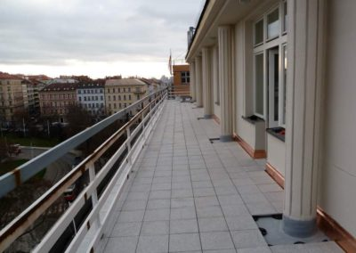 Budova Valdek Praha, terasy