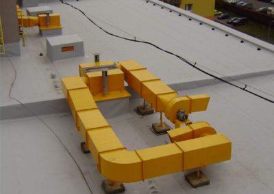 Nový nátěr vzduchotechnik a Hydroizolace Alkorplan 1,5mm