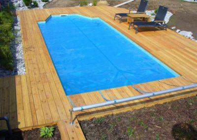 Bazén, kombinace dvou barev