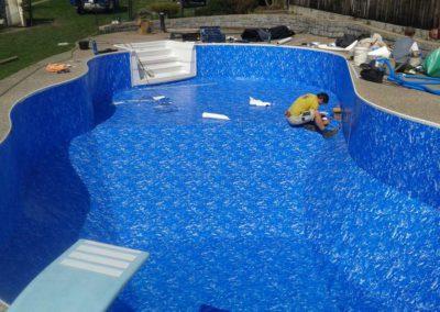 Vyvložkování polypropylenového bazénu, Alkorplan 3000, mramor